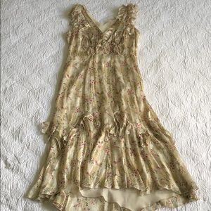 ANNA SUI for Anthropologie Silk Dress Size 6